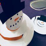 Schneemann Spirale – Basteln im Winter