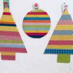 Weihnachtsdeko mit Washi Tape – Basteln mit Kindern