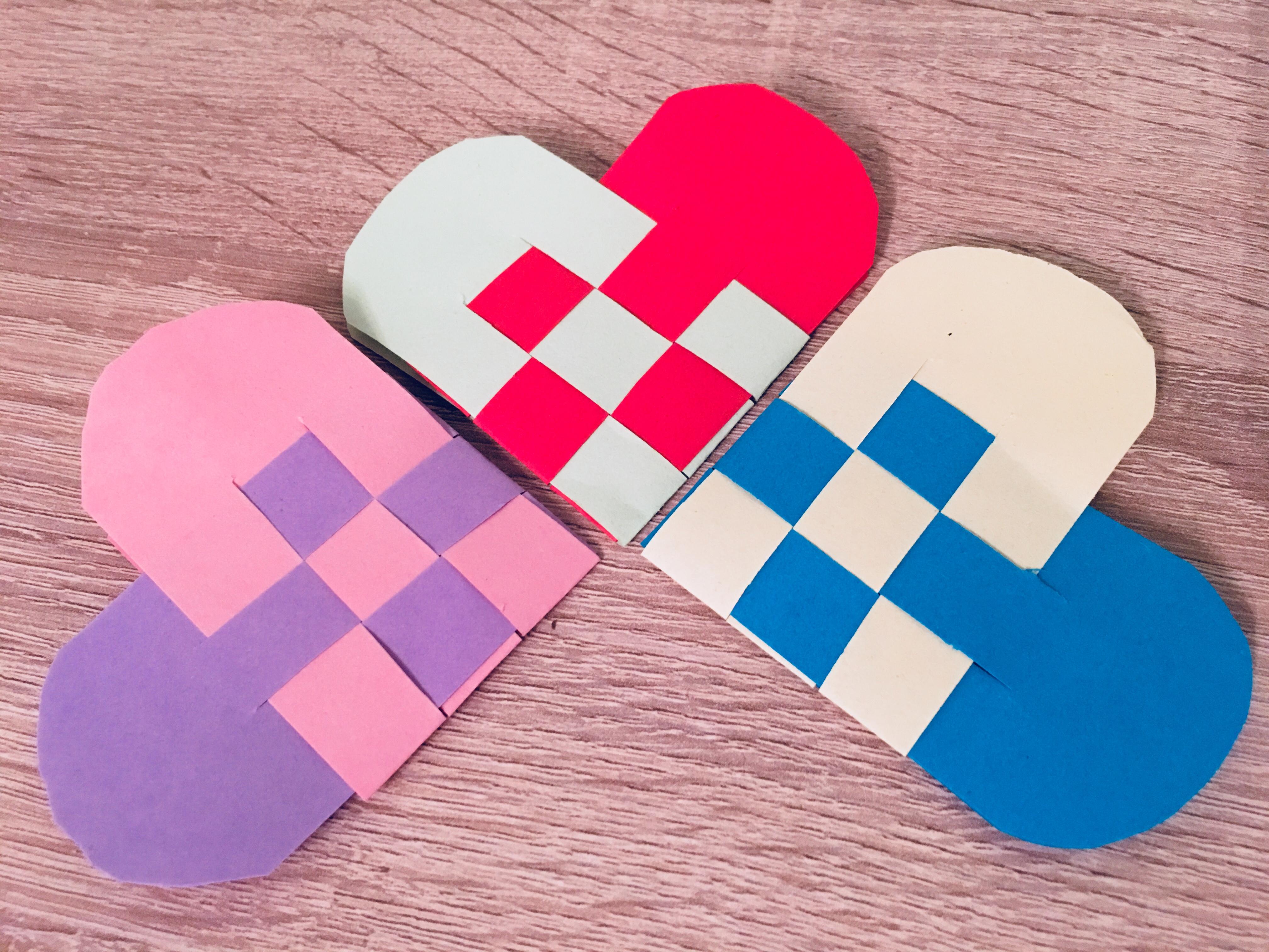 flechtherzen dänische herzen papier valentinstag