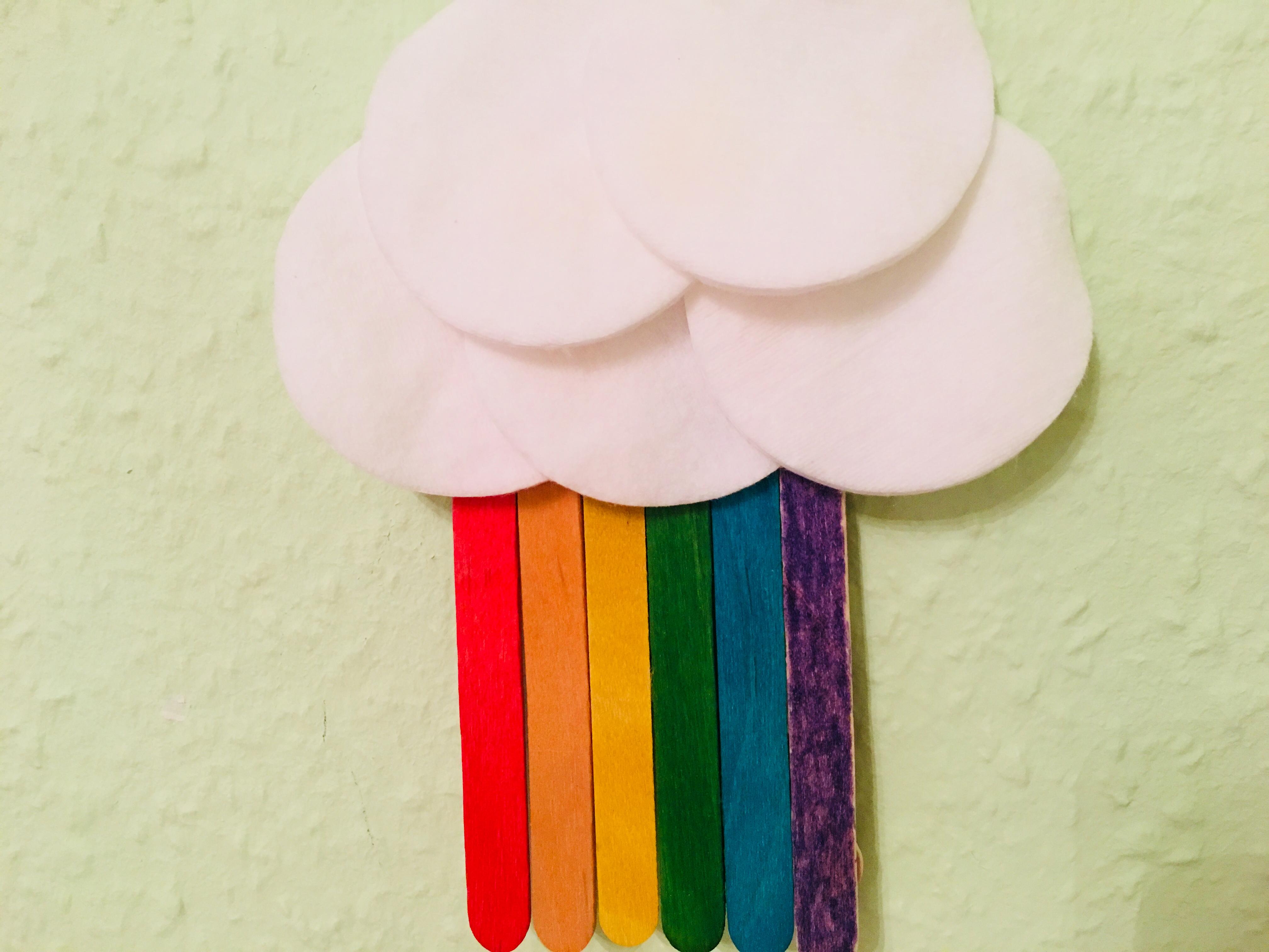 Regenbogen Wolke Basteln Der Familienblog Für Kreative Eltern