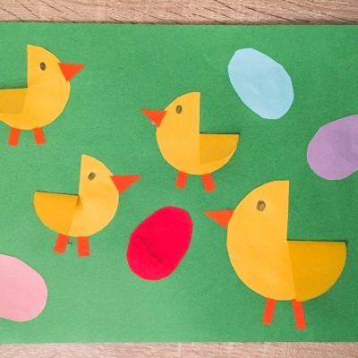 Hühnerfamilie aus Papier – Basteln mit Kindern