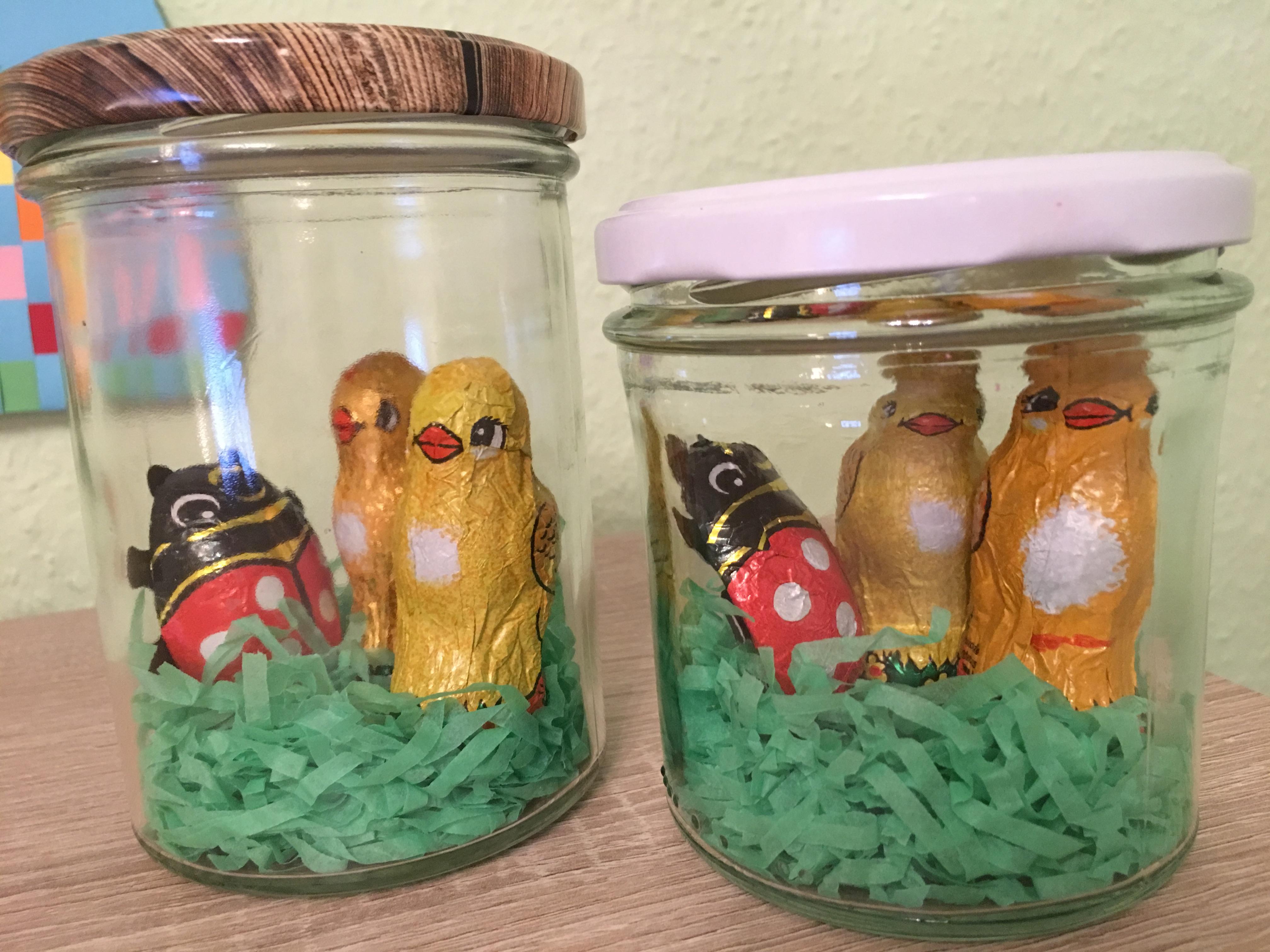 Osternest im glas diy ostern