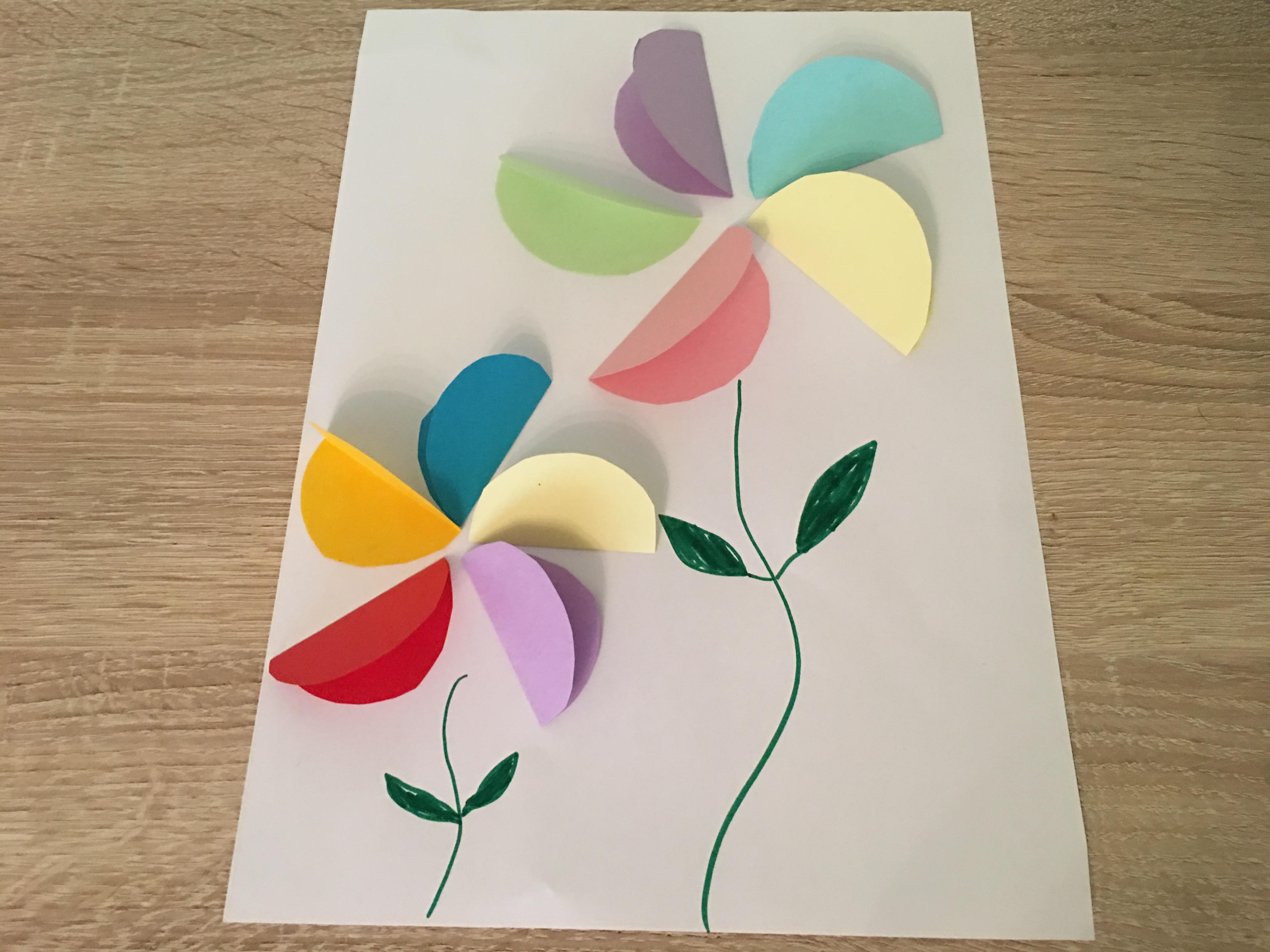 Bunte Fruhlingsblumen Aus Papier Basteln Mit Kindern Der