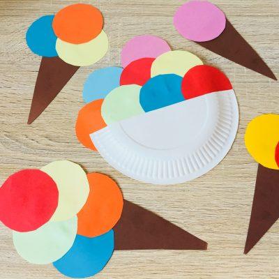 Eis aus Papier basteln – Basteln im Sommer