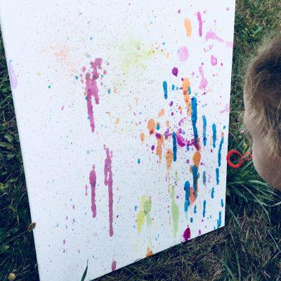 Seifenblasen Bild selber machen – Kreativ mit Kindern