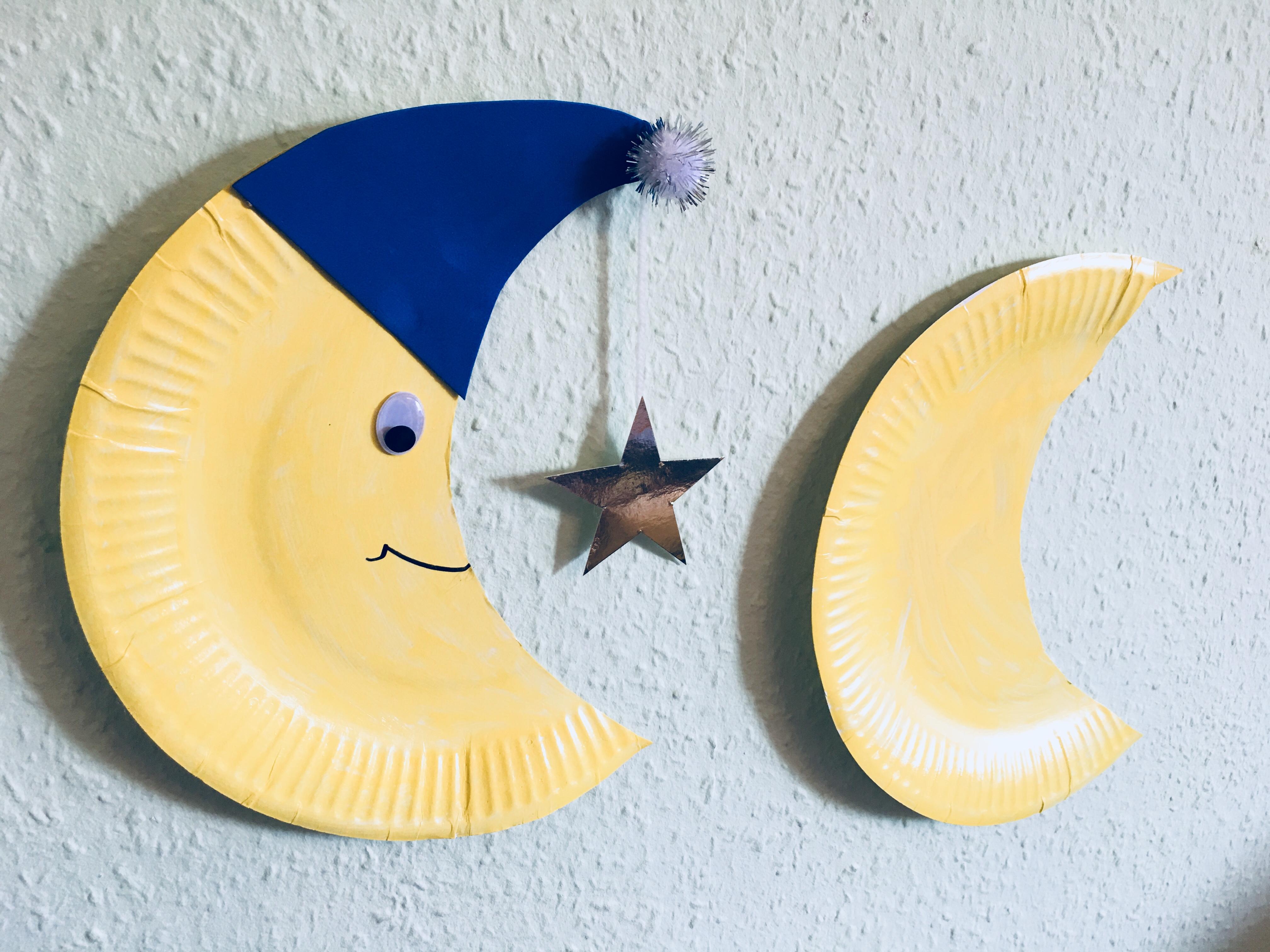 Einen Mond Aus Pappteller Mit Kindern Basteln Der Familienblog Für