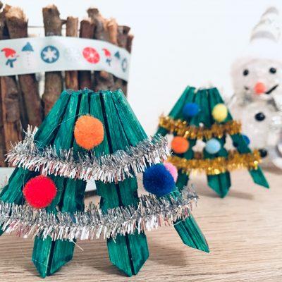Weihnachtsbaum aus Wäscheklammern – Basteln für Weihnachten