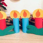 Kerzen aus Toilettenpapierrollen – Basteln für Weihnachten