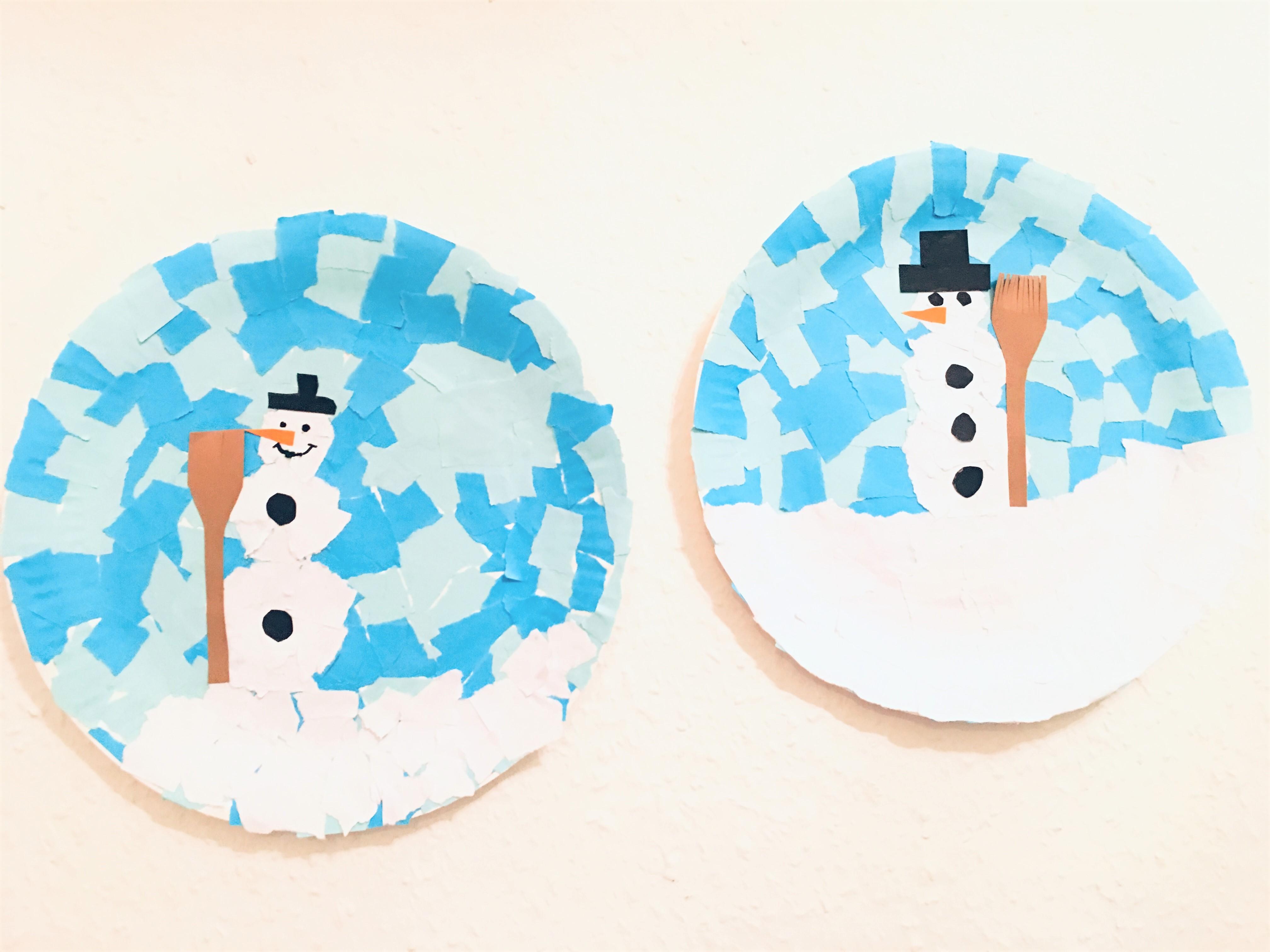Winterbild Aus Pappteller Basteln Im Winter Mit Kindern Der