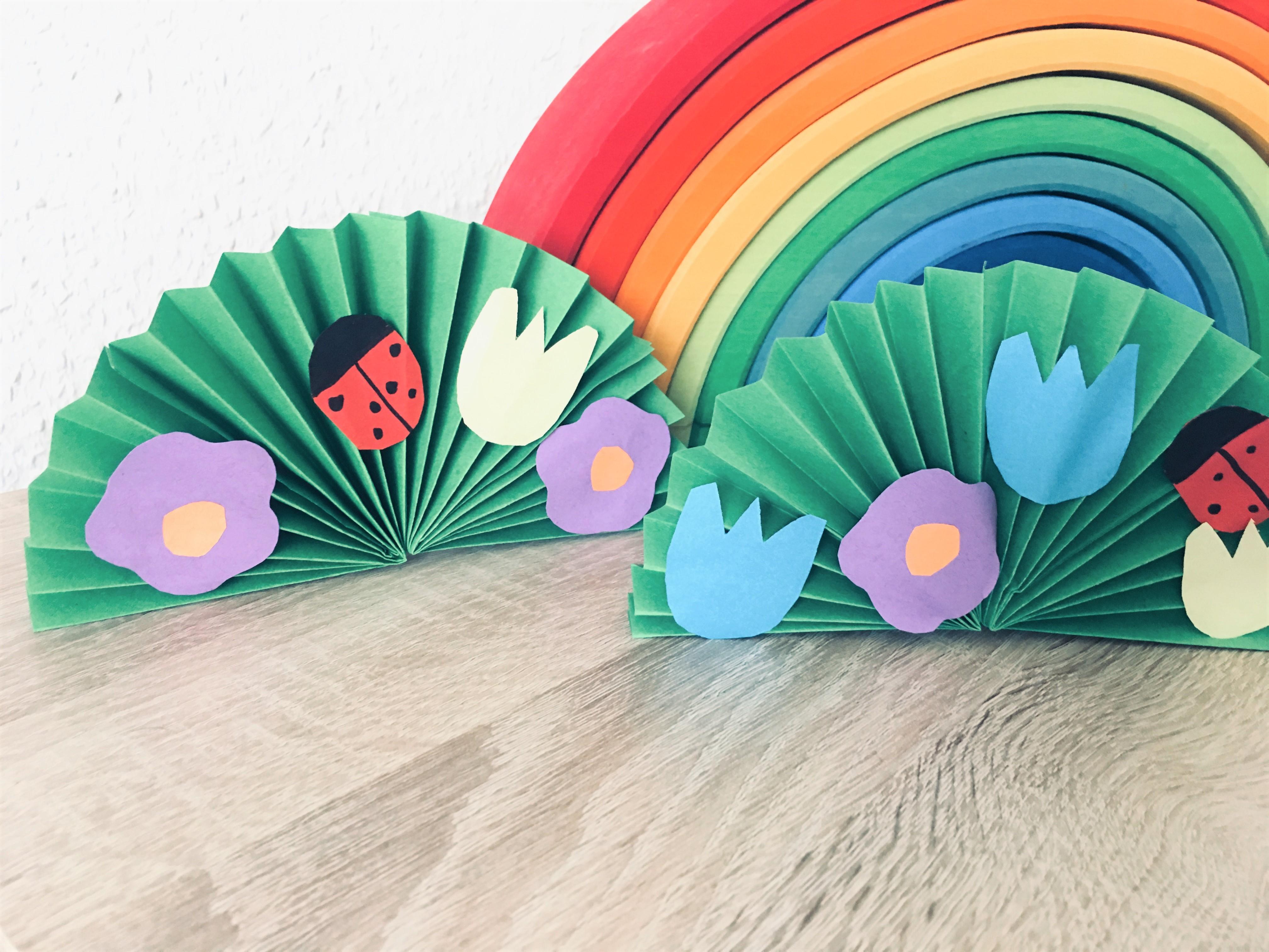 Blumenwiese Aus Papier Basteln Mit Kindern Der Familienblog Für