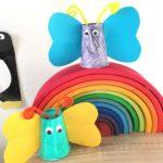 Schmetterling aus Pappbecher – Basteln im Frühling