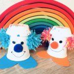 Clown aus Pappbecher – Basteln mit Kindern