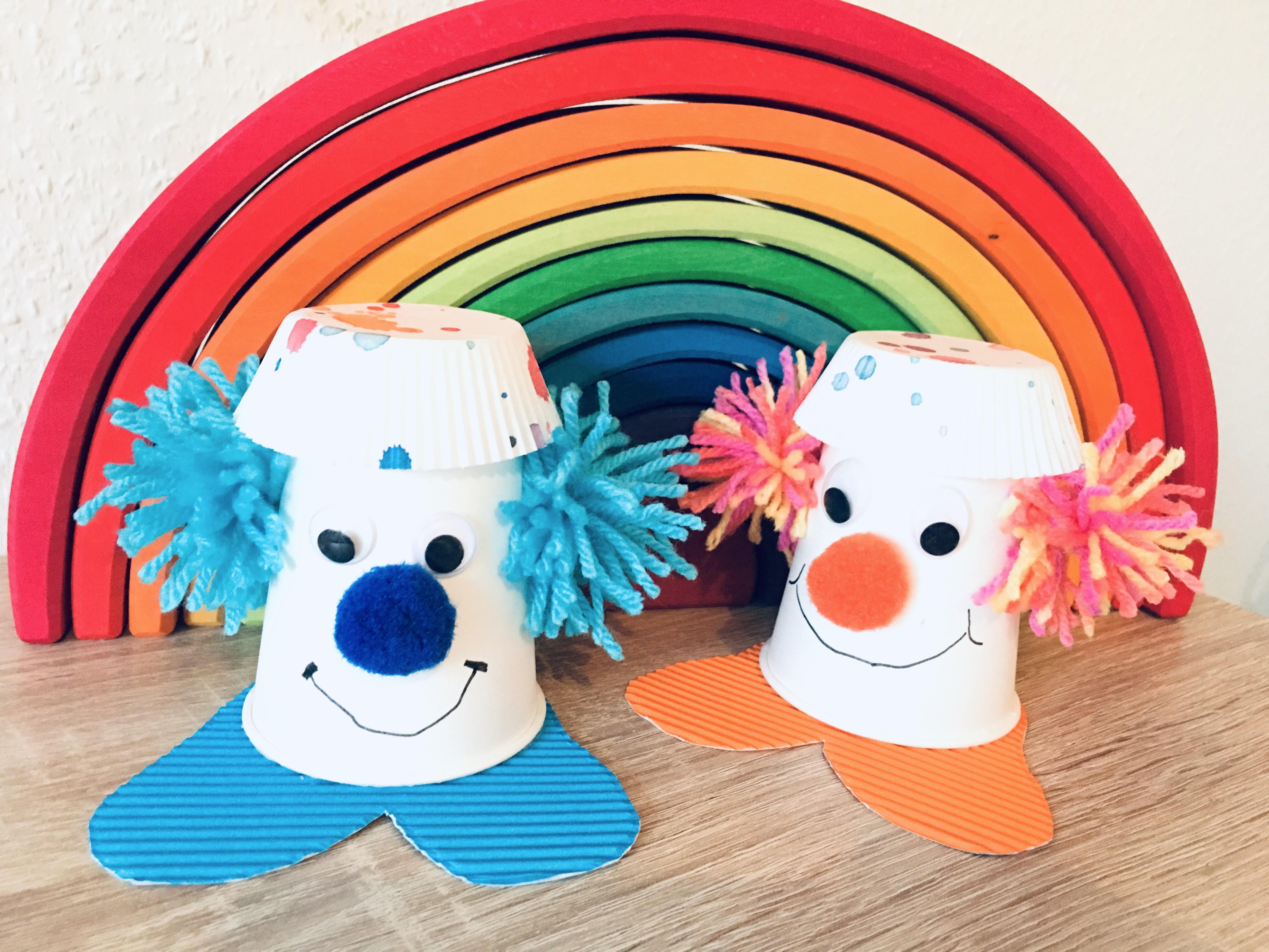 Clown Aus Pappbecher Basteln Mit Kindern Der Familienblog Fur