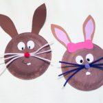 Osterhasen aus Pappteller – Basteln für Ostern