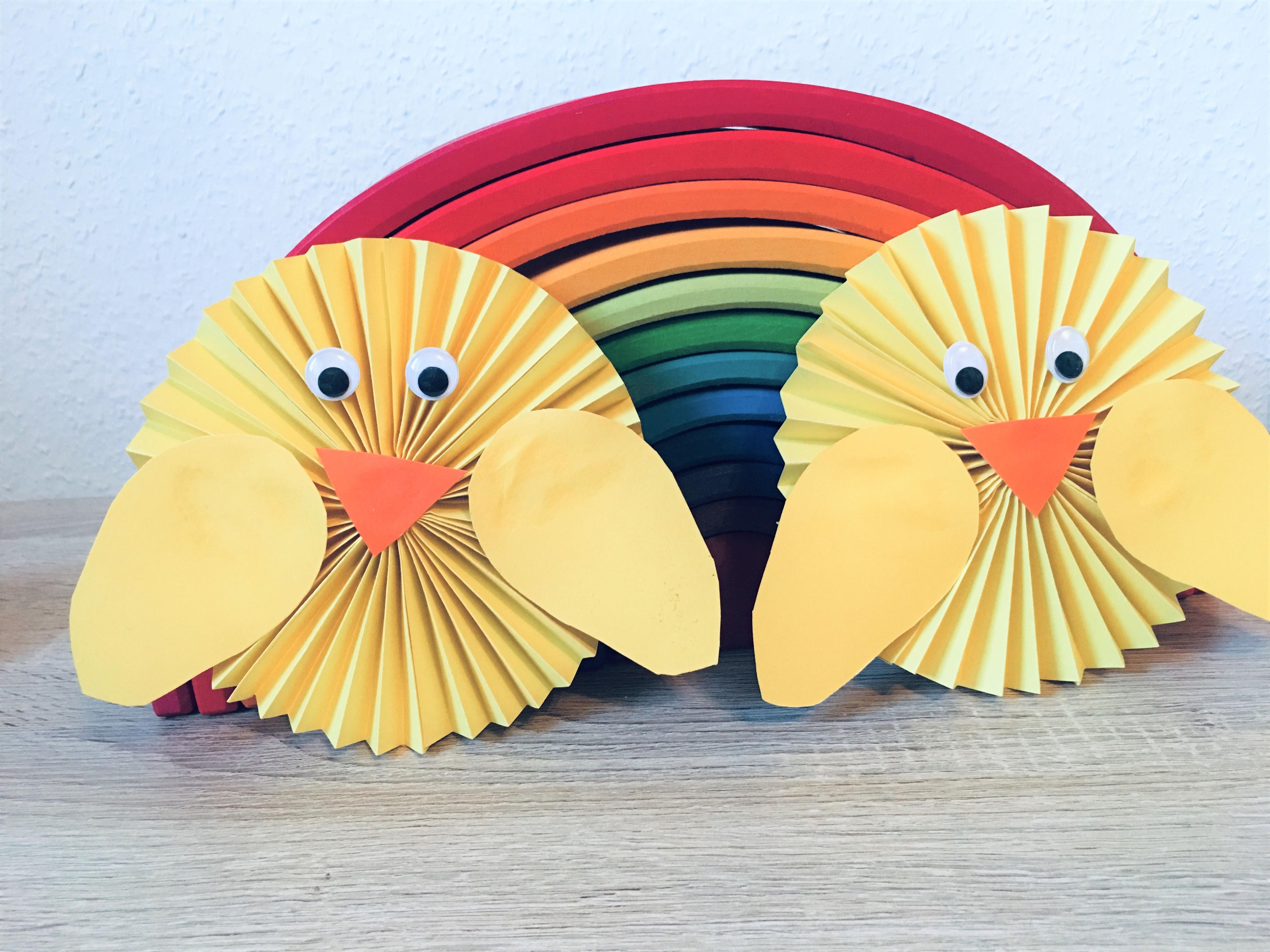 Osterküken Aus Papier Basteln Mit Kindern Der