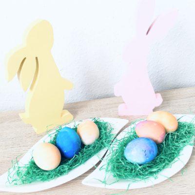 Ostereier färben mit Krepppapier – Basteln für Ostern