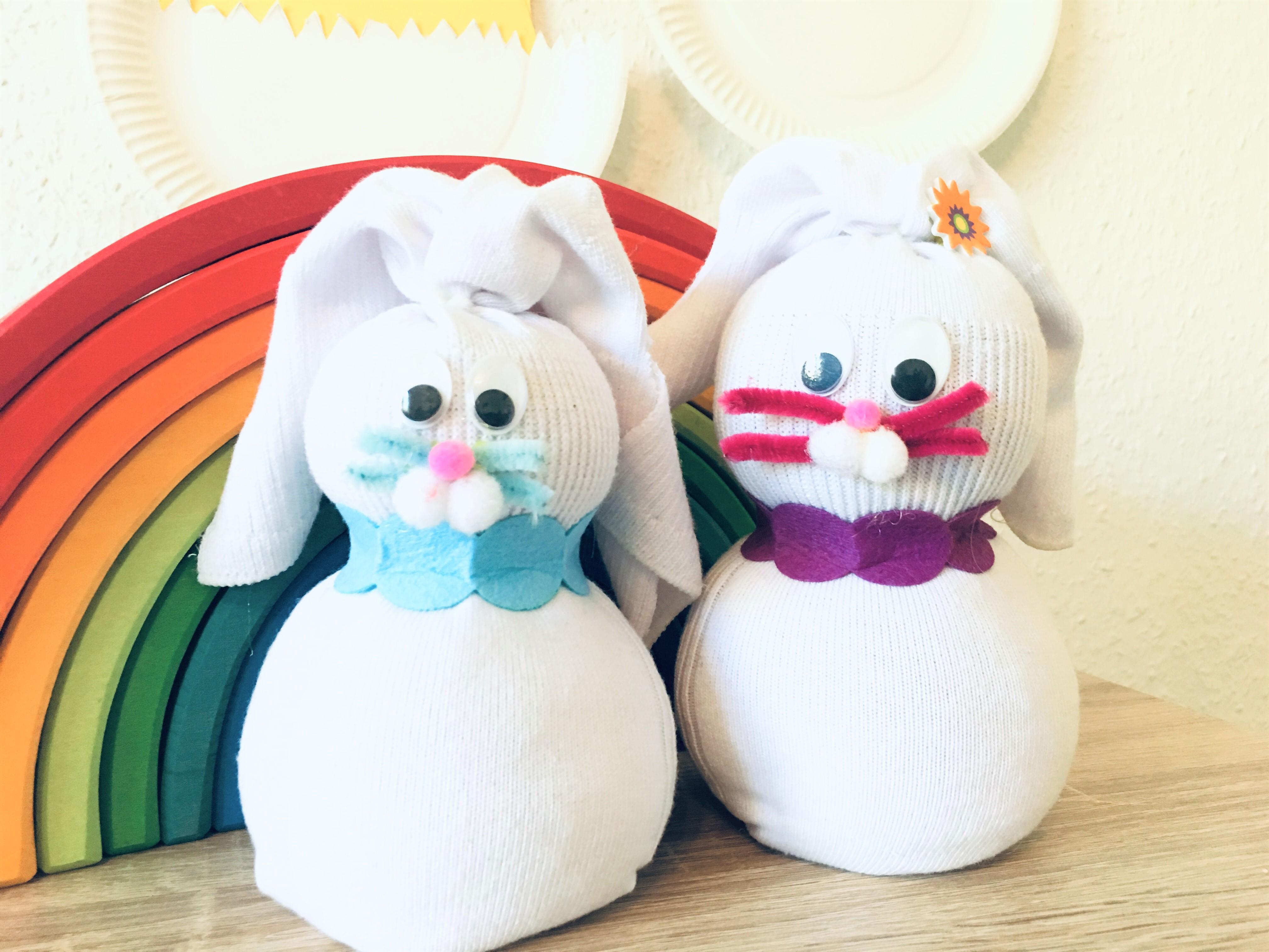 Socken Osterhasen Basteln Für Ostern Der Familienblog