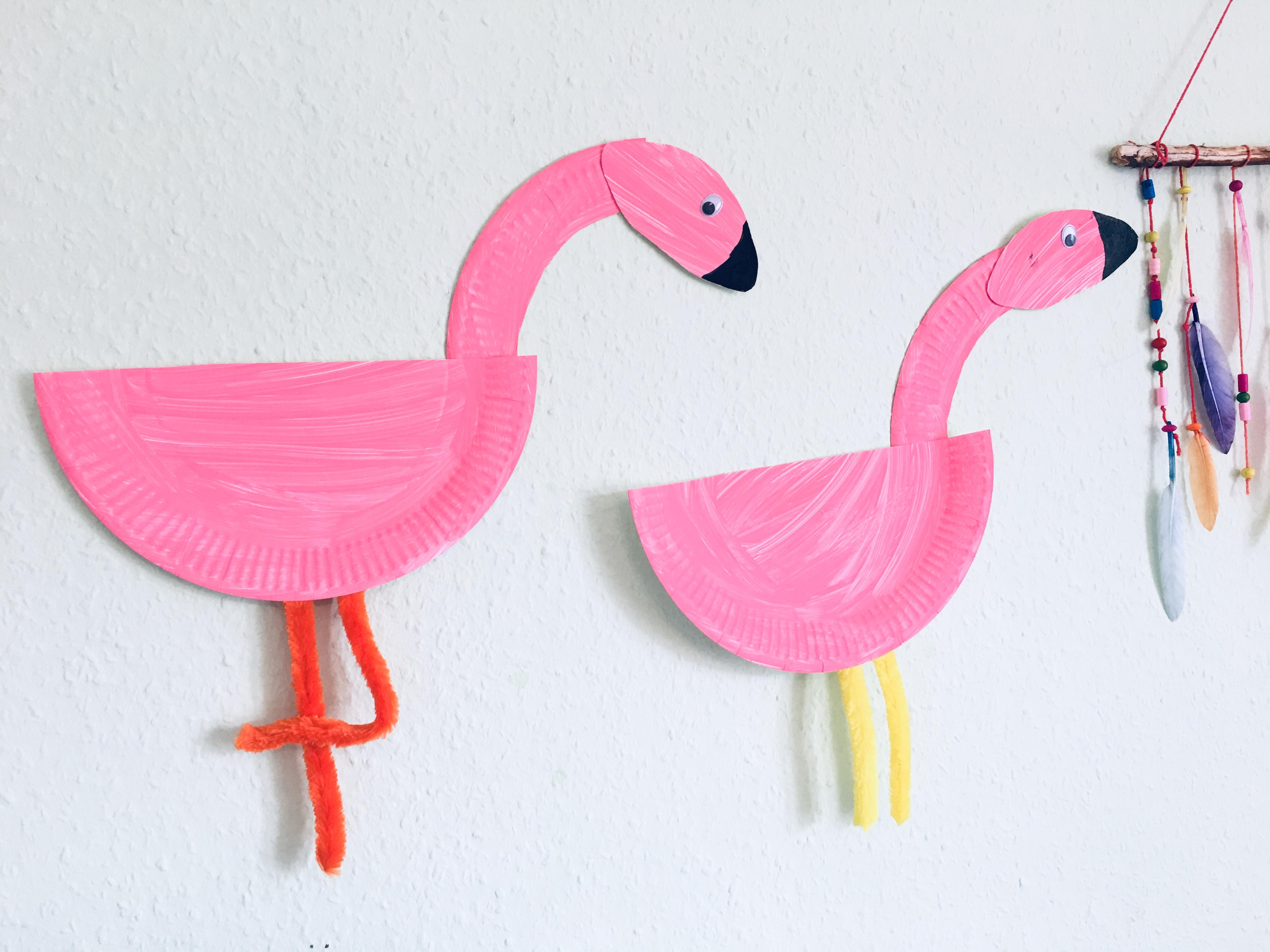 Flamingo Aus Pappteller Basteln Mit Kindern Der