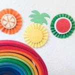 Früchte aus Papier basteln – Basteln im Sommer