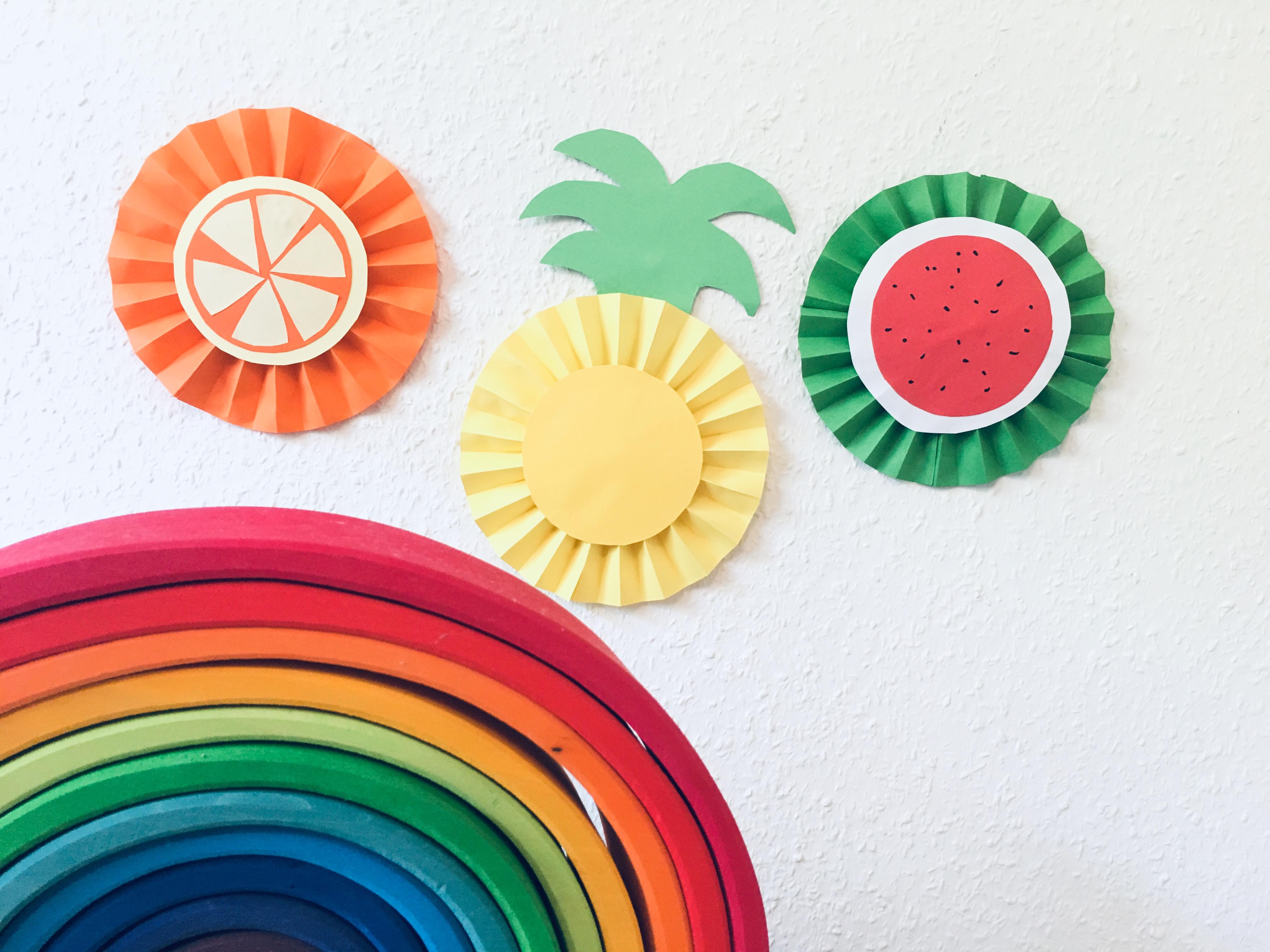 Fruchte Aus Papier Basteln Basteln Im Sommer Der Familienblog