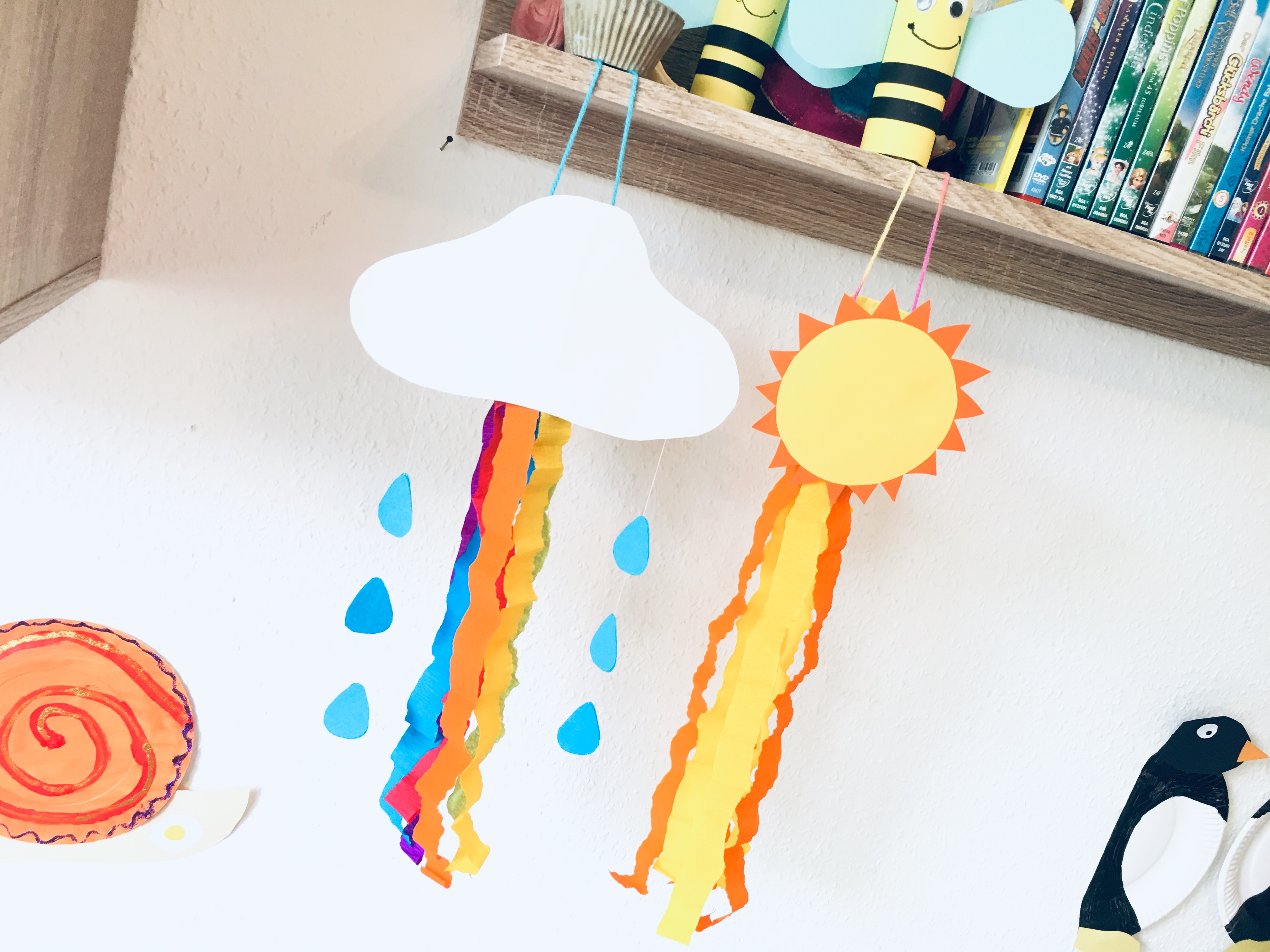 Bunte Windspiele Aus Toilettenpapierrollen Basteln Mit Kindern