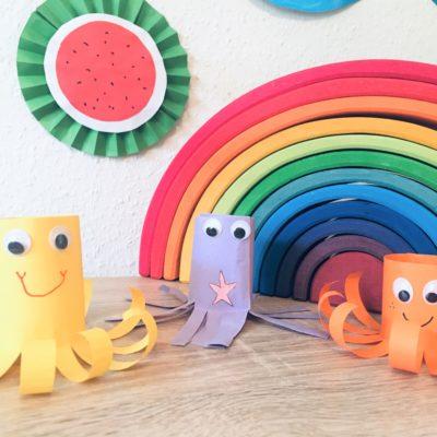 Krake aus Papier – Basteln mit Kindern