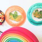 Herbstlicher Bilderrahmen aus Pappteller – Basteln im Herbst