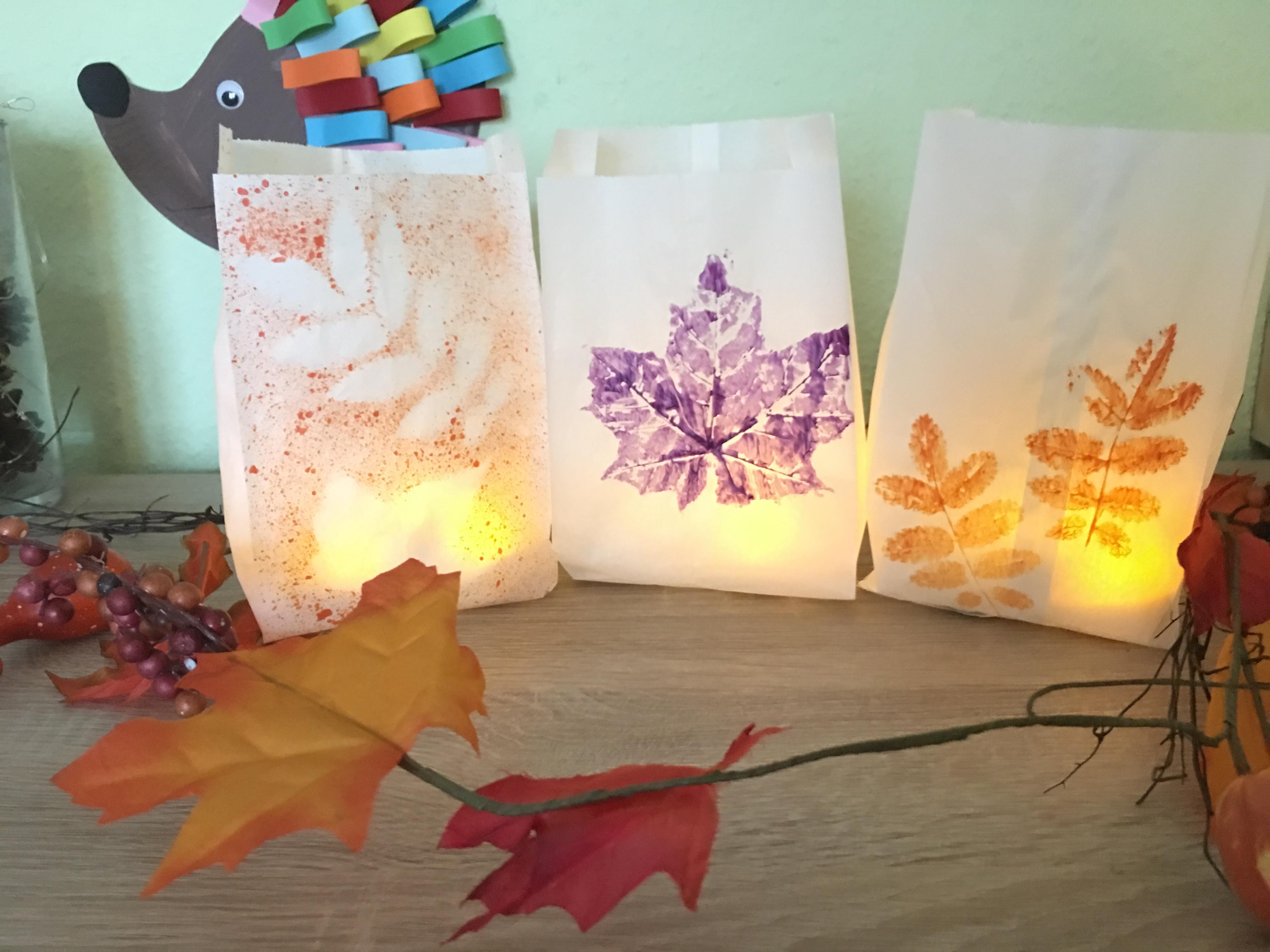 Tolle Herbst Windlichter Mit Kindern Basteln Der