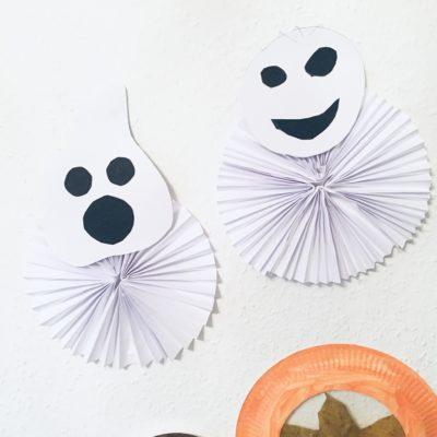 Kleine Gespenster aus Papier basteln – Basteln für Halloween