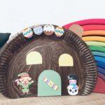 Lebkuchenhaus aus Pappteller basteln