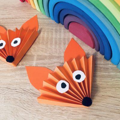 Fuchs aus Papier basteln – Basteln im Herbst