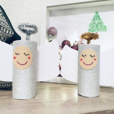 Engel aus Papprollen – Basteln zu Weihnachten