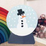 Schneekugel aus Papier basteln – Mit Kindern durch den Winter