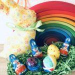 Osternest aus Eier und Eierkarton basteln