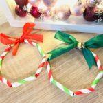 Weihnachtskranz aus Papierstrohhalmen – Basteln zur Weihnachtszeit