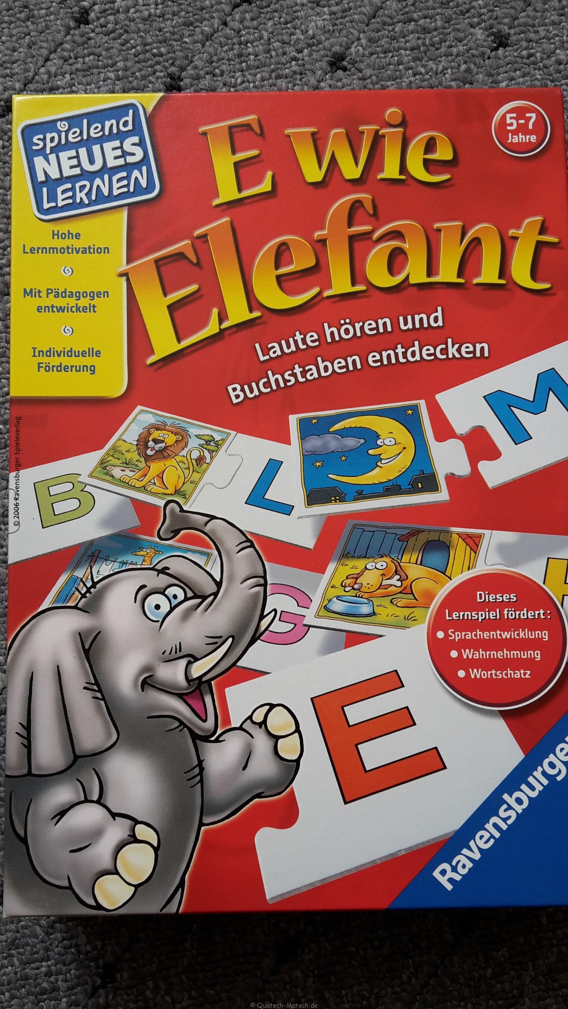 E wie Elefant – von Ravensburger im Spieletest