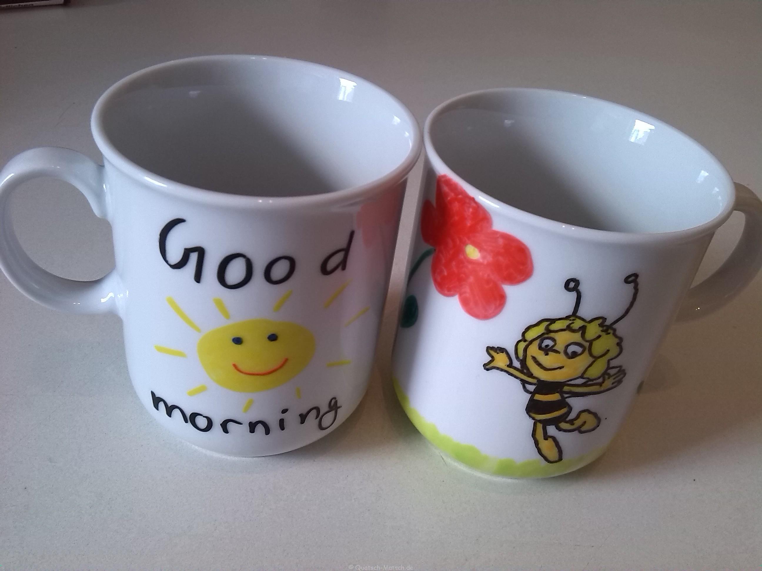 Porzellan Tassen selbt gestalten – Schönes Geschenk