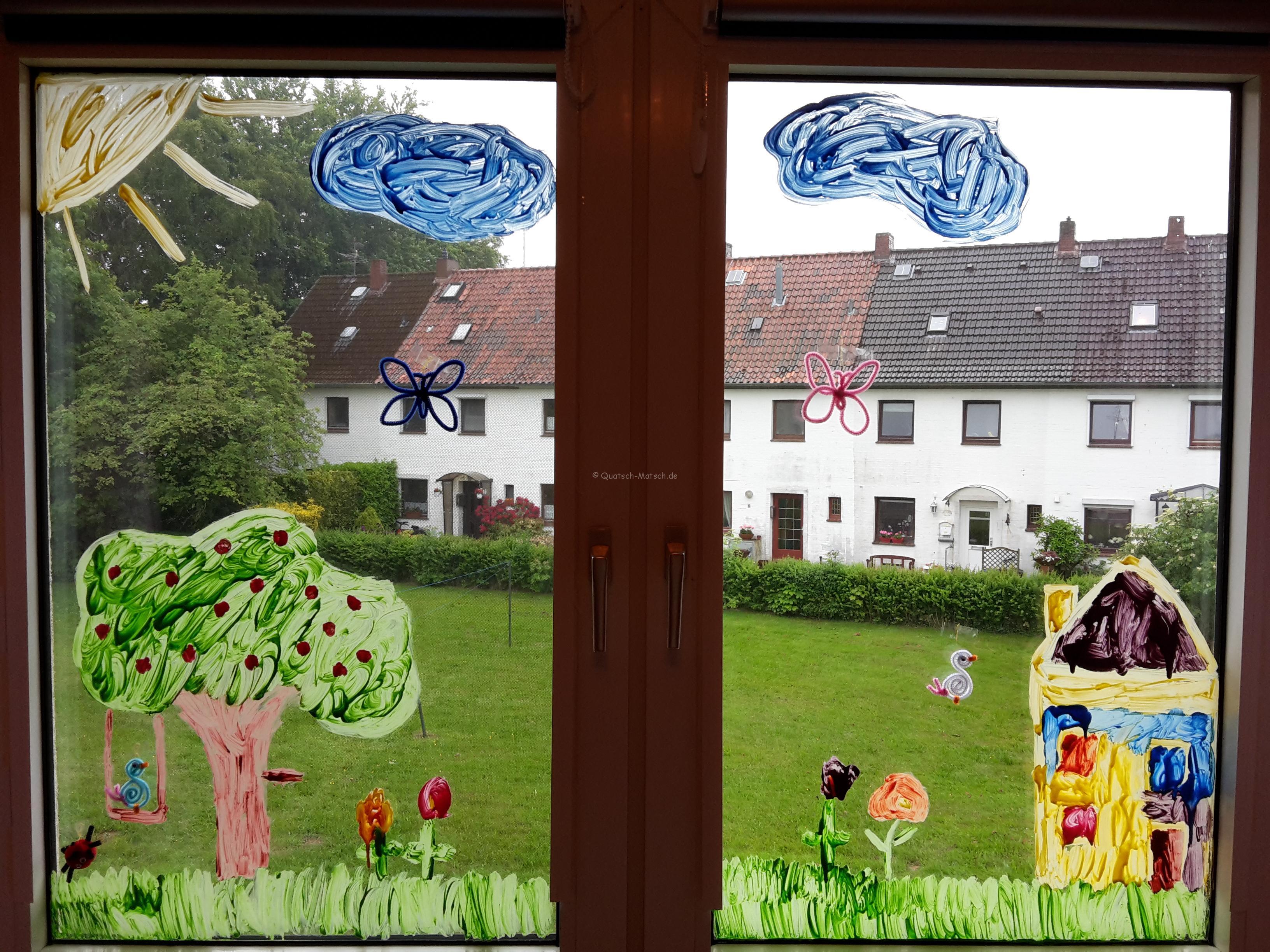 Kreative Fenstermalerei