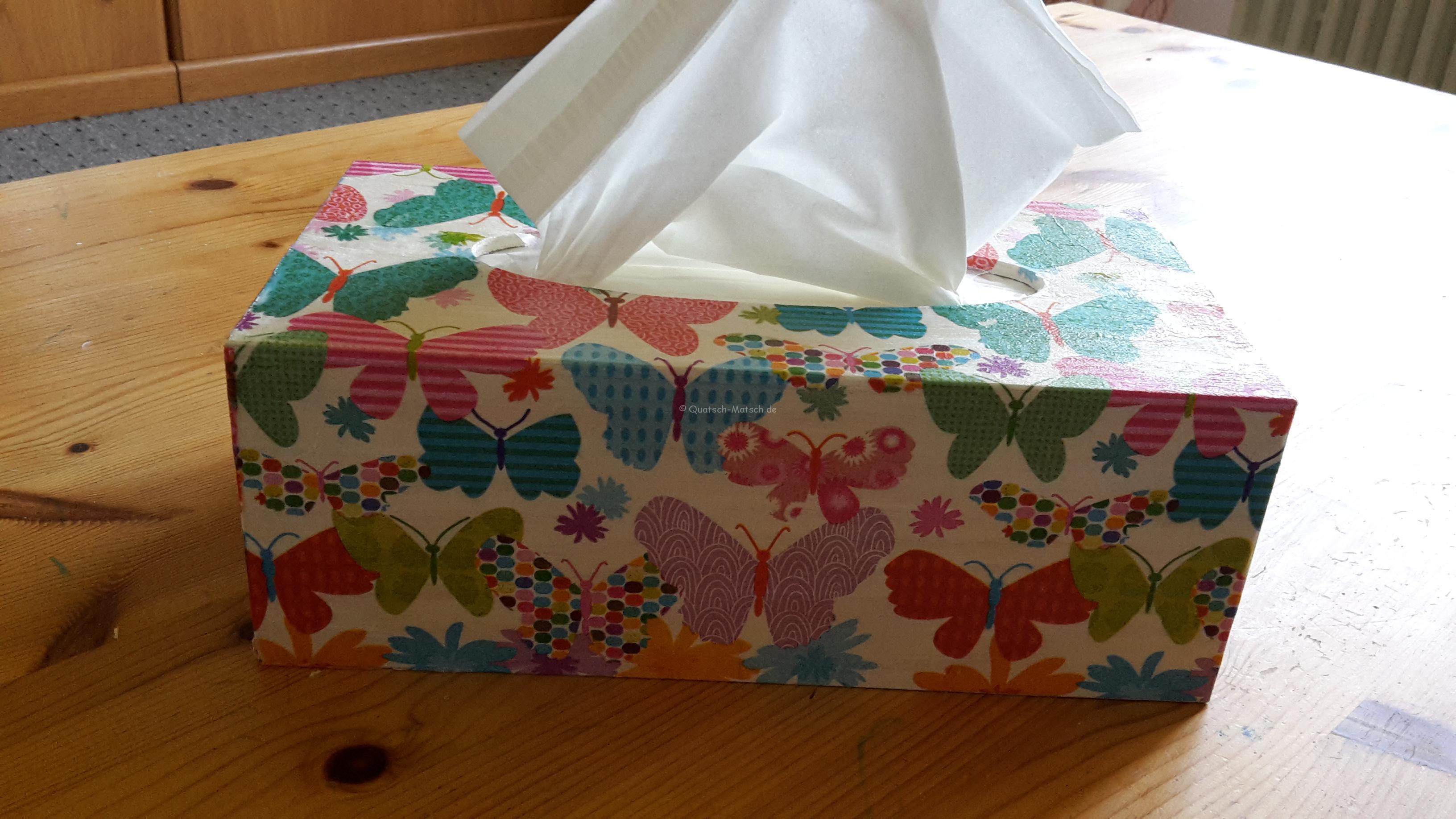 Taschentuchbox mit Serviettentechnik – DIY
