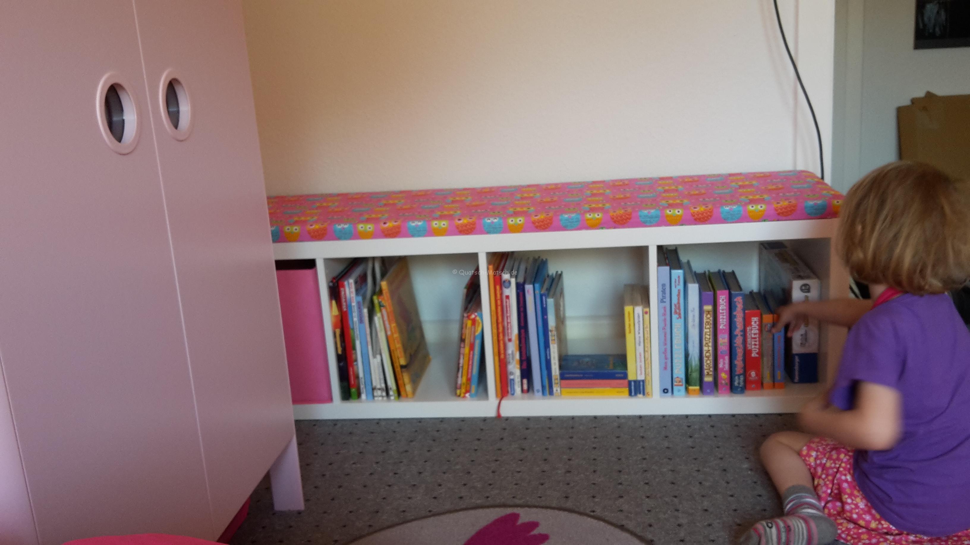 Aus einem Ikea Regal eine Sitzbank für Kinder bauen