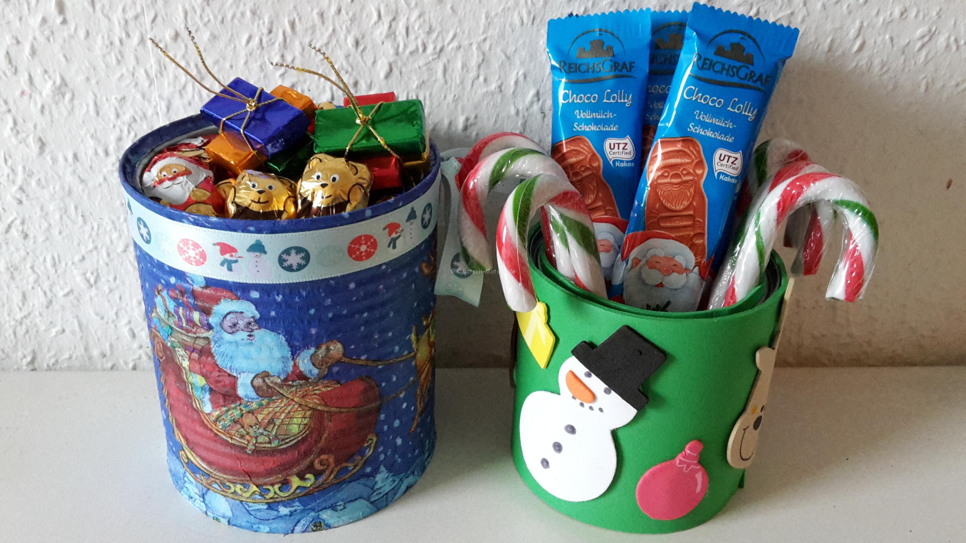 Süßigkeiten Weihnachtsdosen – DIY