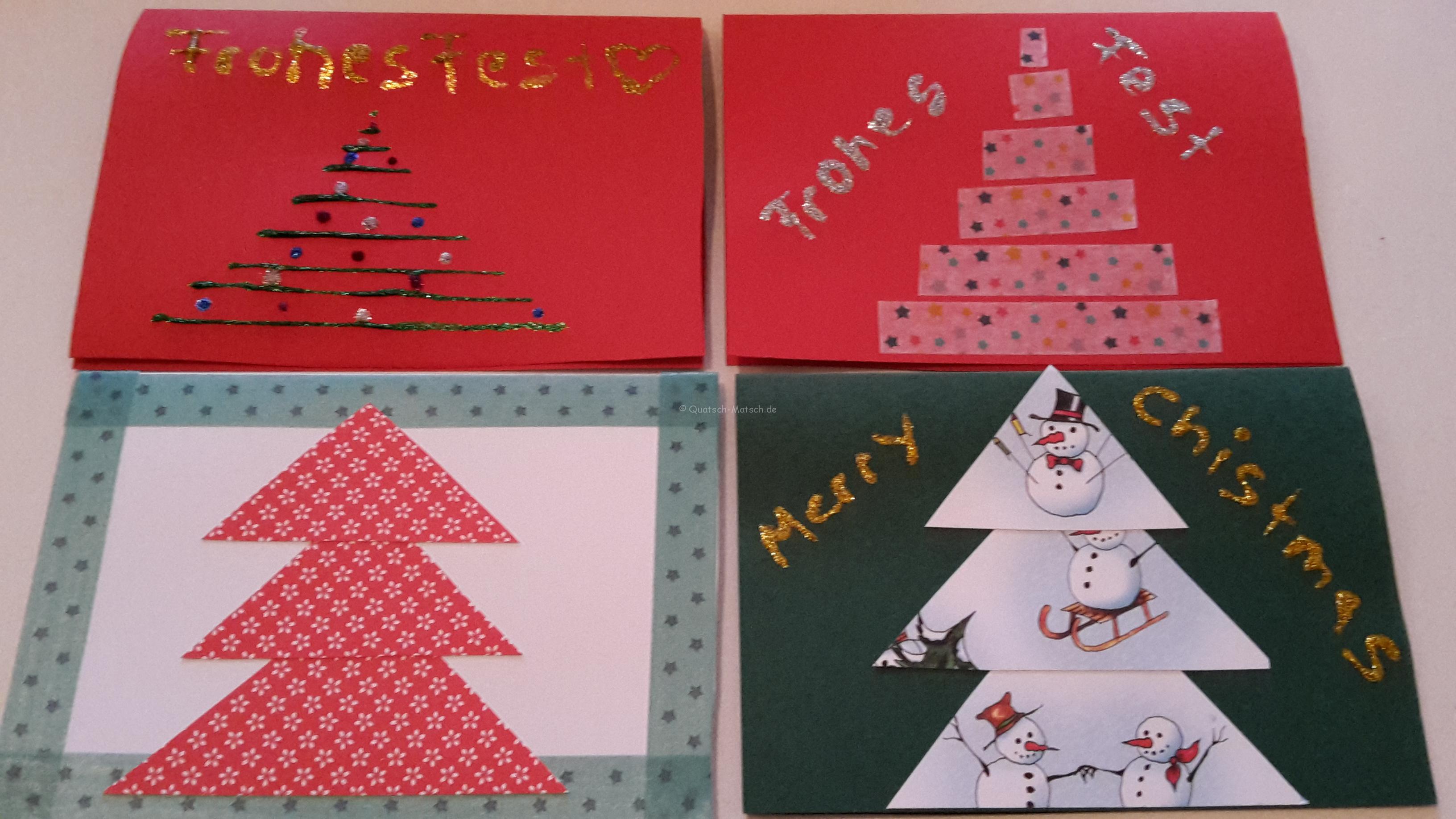 Weihnachtskarten schnell und kinderleicht selber machen – DIY
