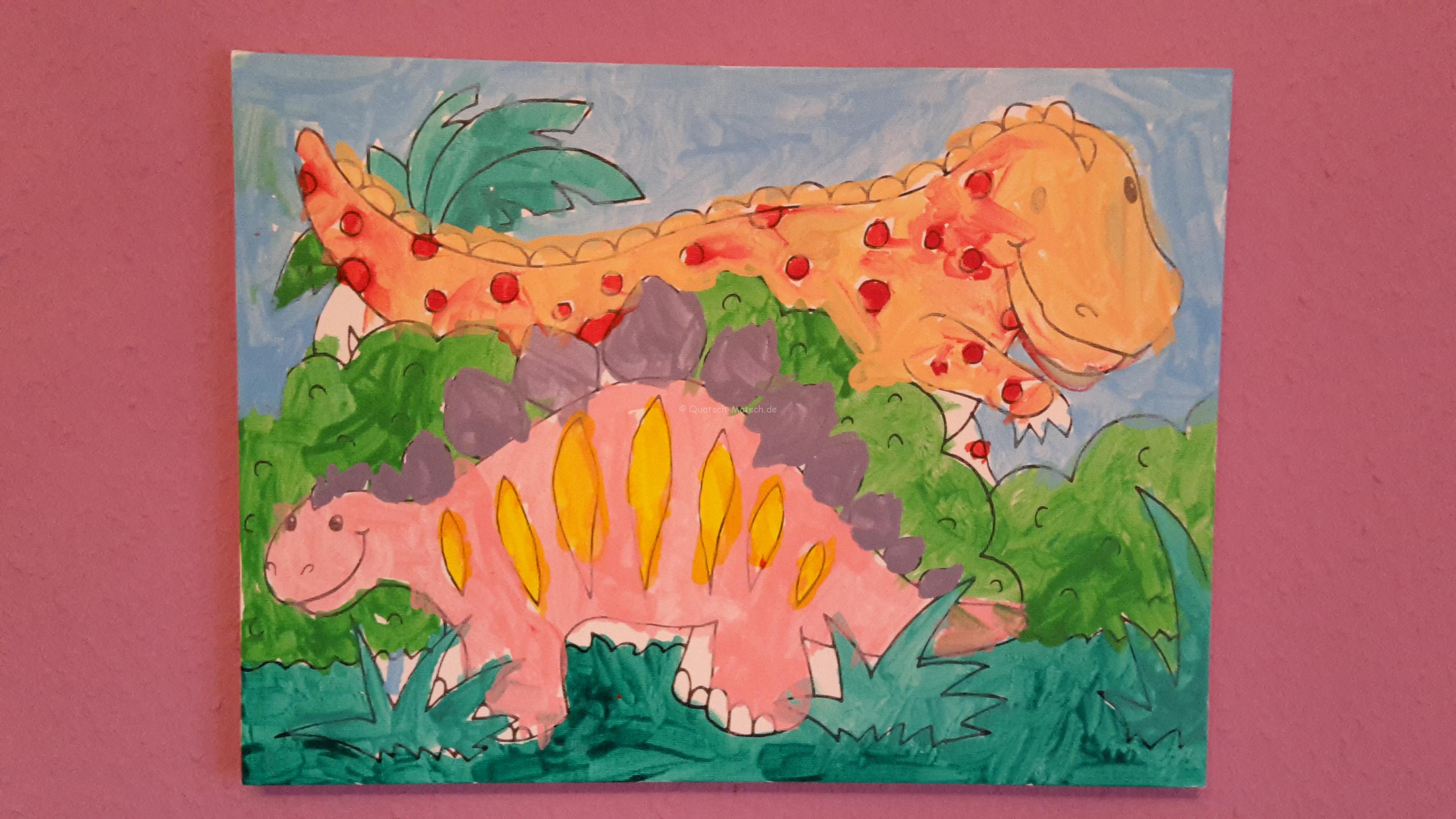 Wandbild selber machen – Dinosaurier