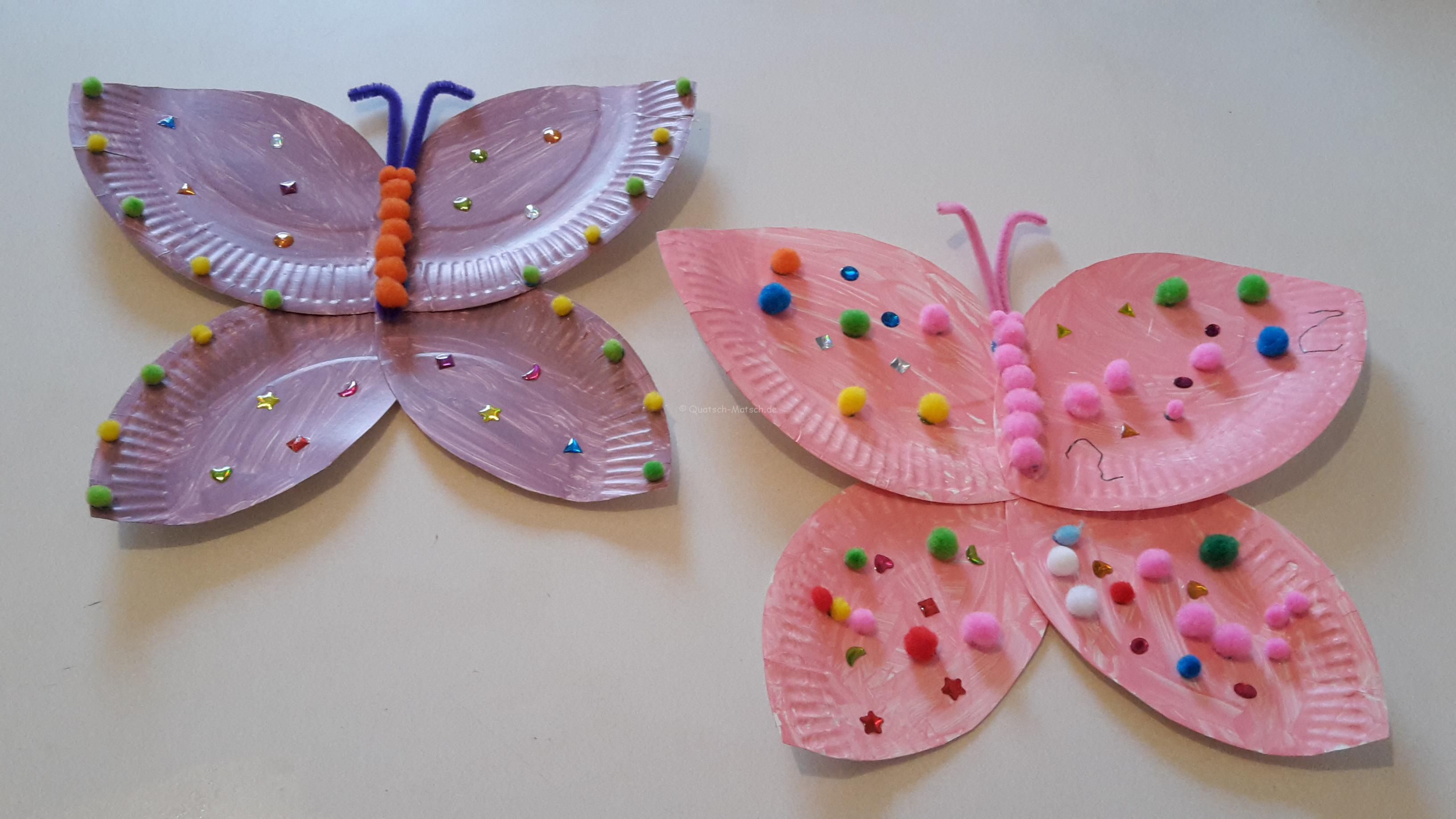 Schmetterlinge aus Pappteller – DIY