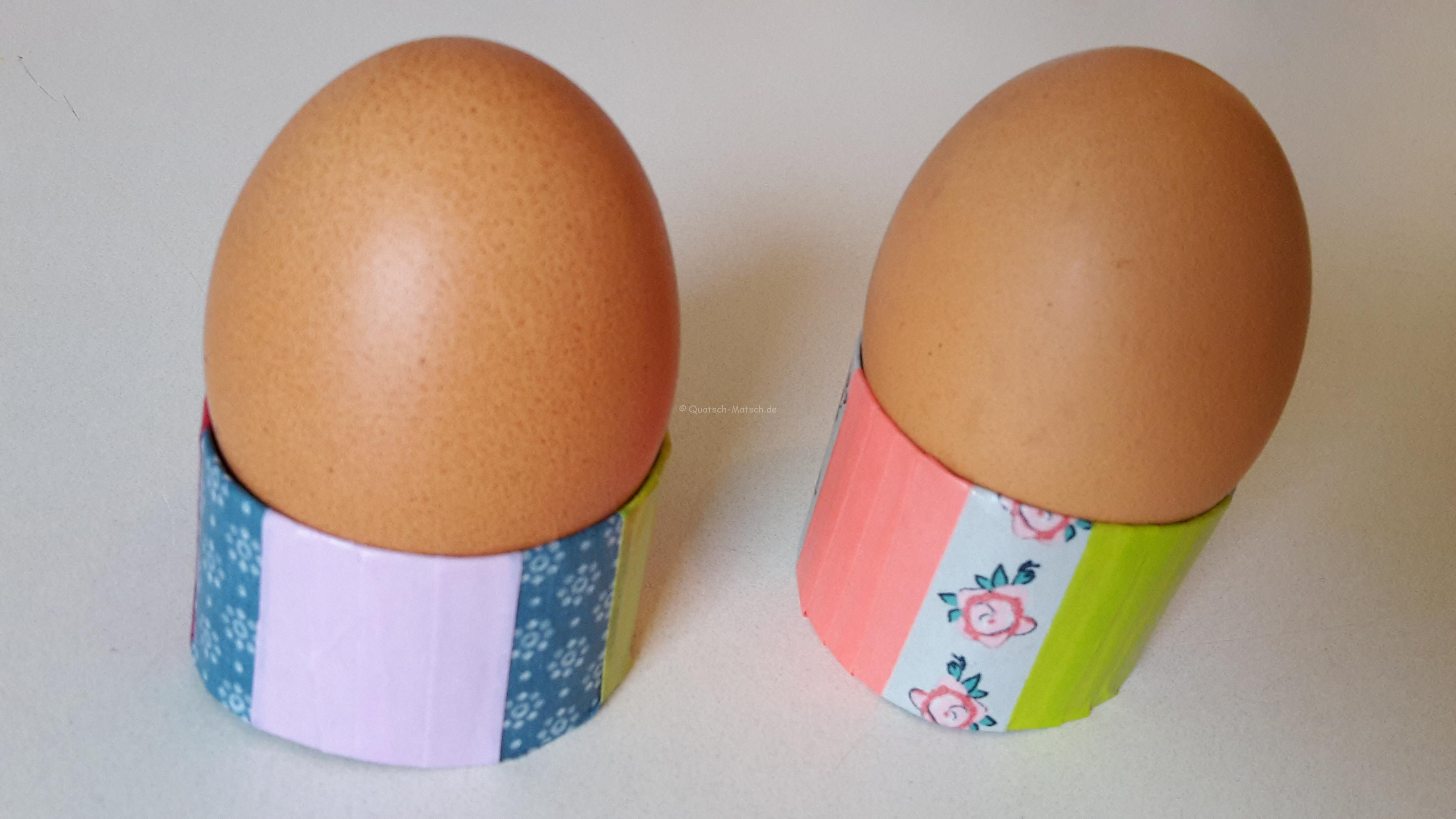 Eierbecher aus Toilettenpapierollen – DIY