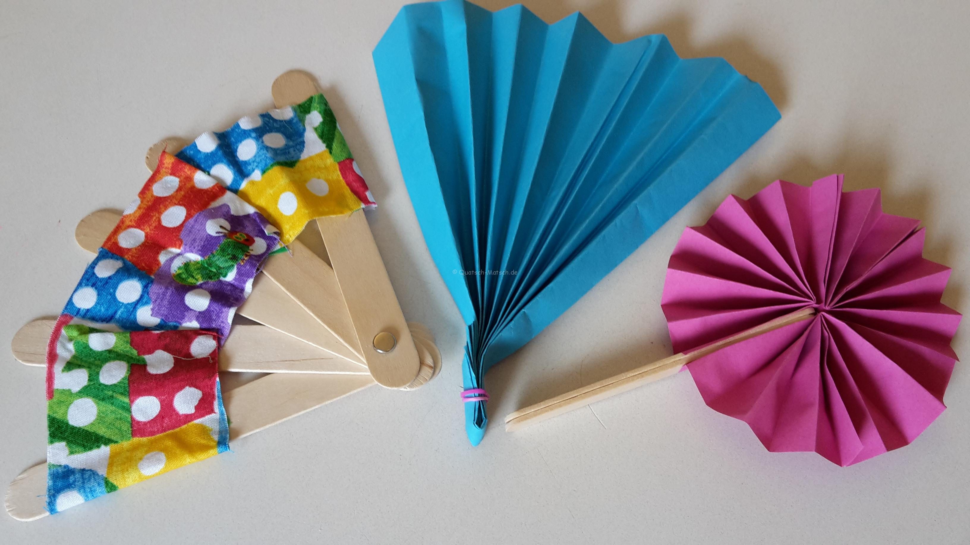 Fächer für den Sommer basteln – DIY