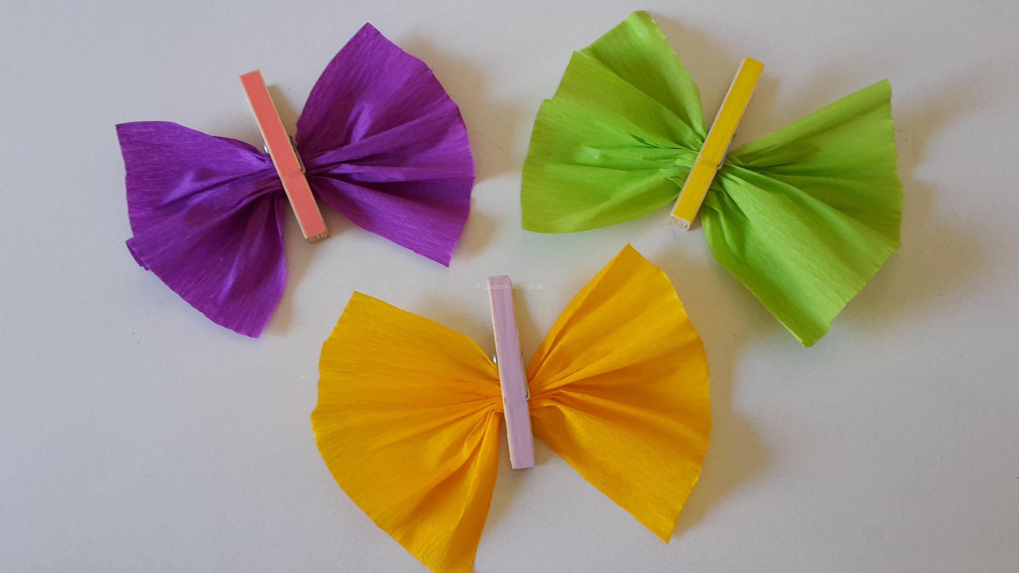 Schmetterlinge Aus Wäscheklammern Diy Der Familienblog Für