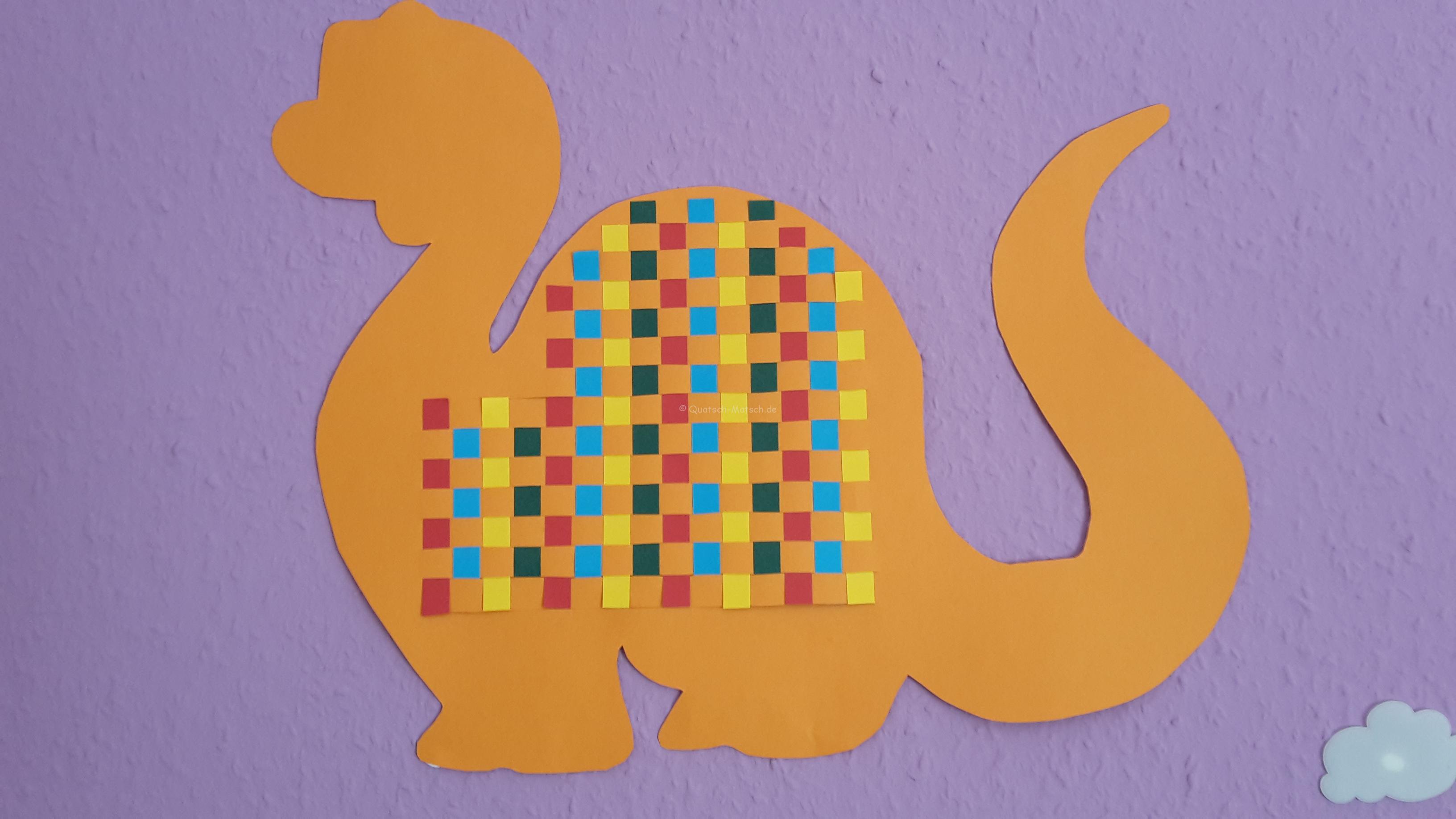 Papier weben – Dinosaurier