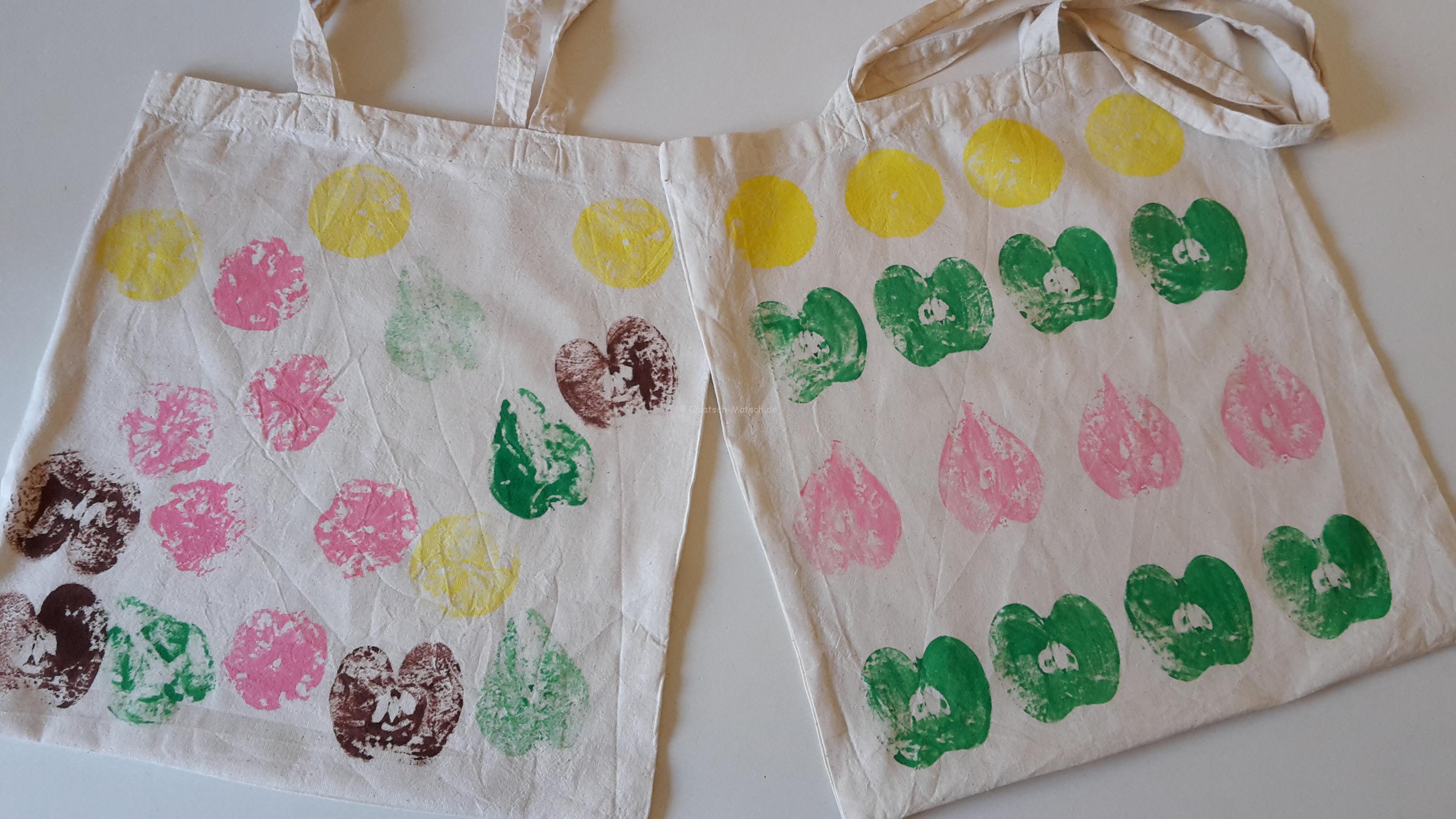 Herbst – Stofftasche mit Obst bedrucken