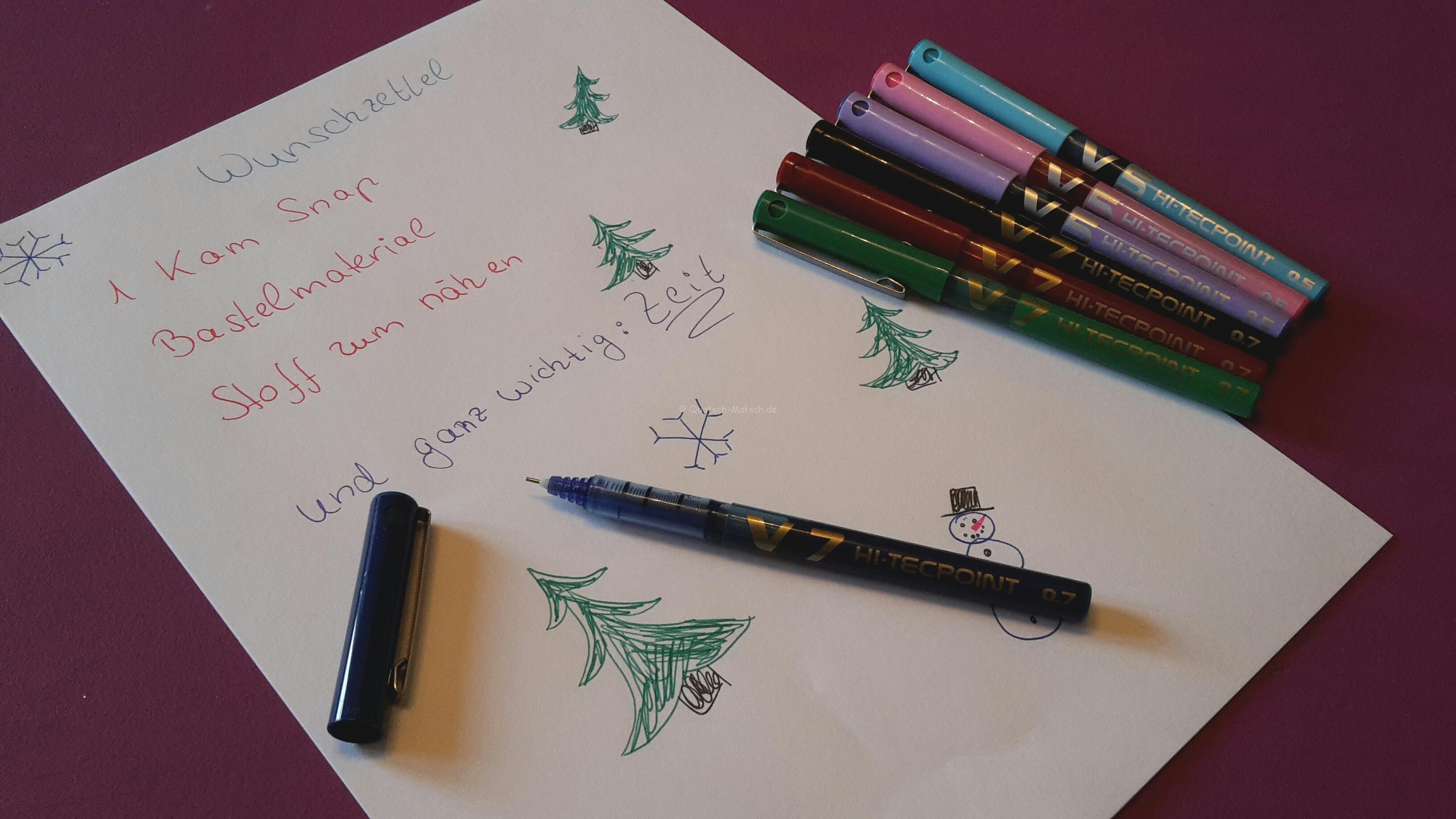 Weihnachtswünsche mit Pilot Movement